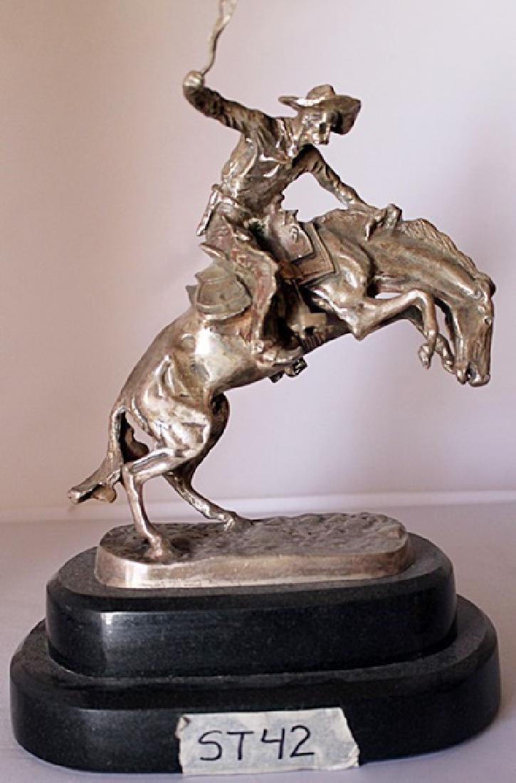 Bronco Buster - .999 Silver Sculpture - Old Cast