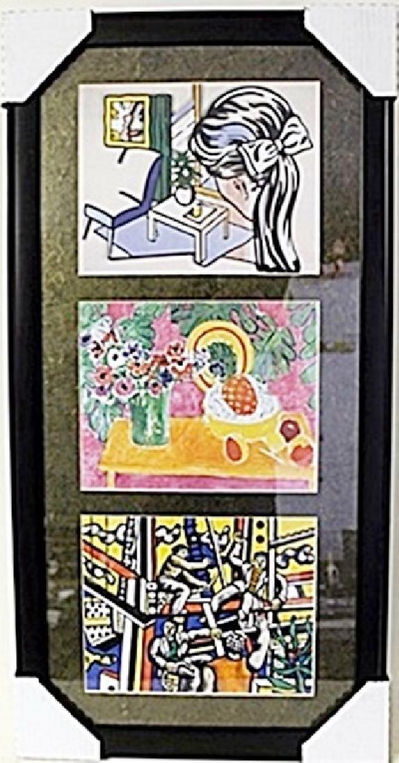Framed 3-in-1 Roy Lichtenstein Lithographs (158E-EK)