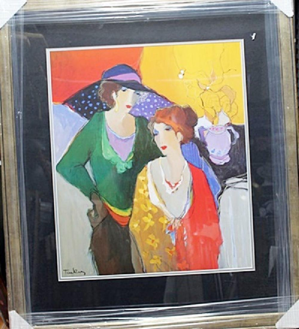 Framed Plate signed Lithograph - Itzchak Tarkay