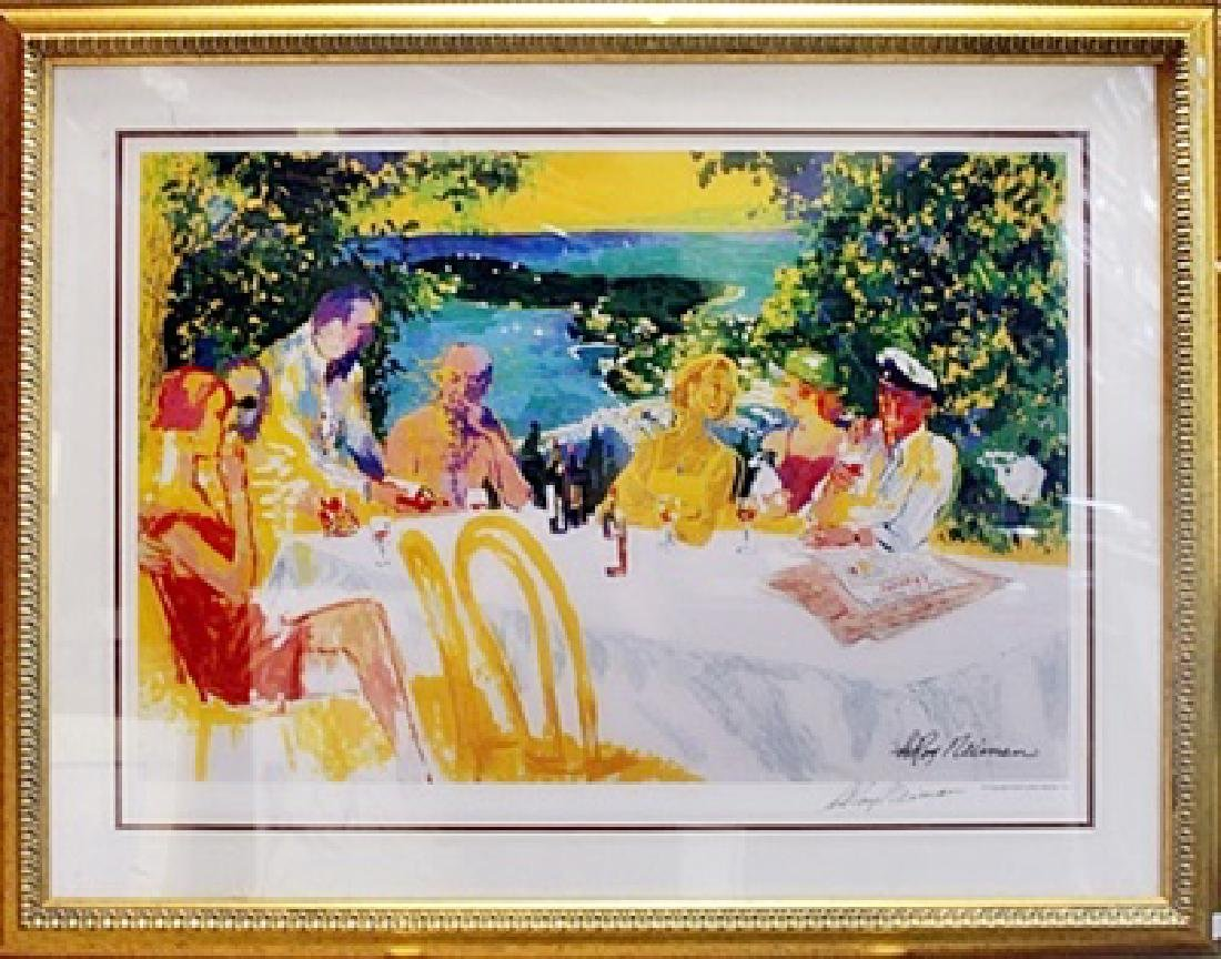 "Framed Lithograph ""Table Conference"" - Leroy Neiman"
