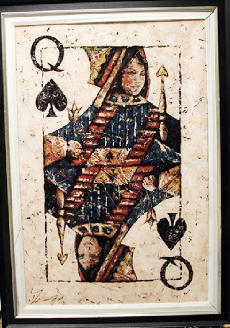 """Framed Canvas """"QUEEN of SPADES"""" by Trevor Mezak"""