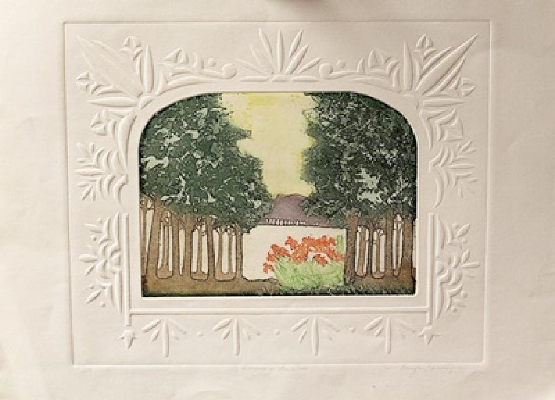 Blossoms In The Woods - Jennifer Berringer - Etching