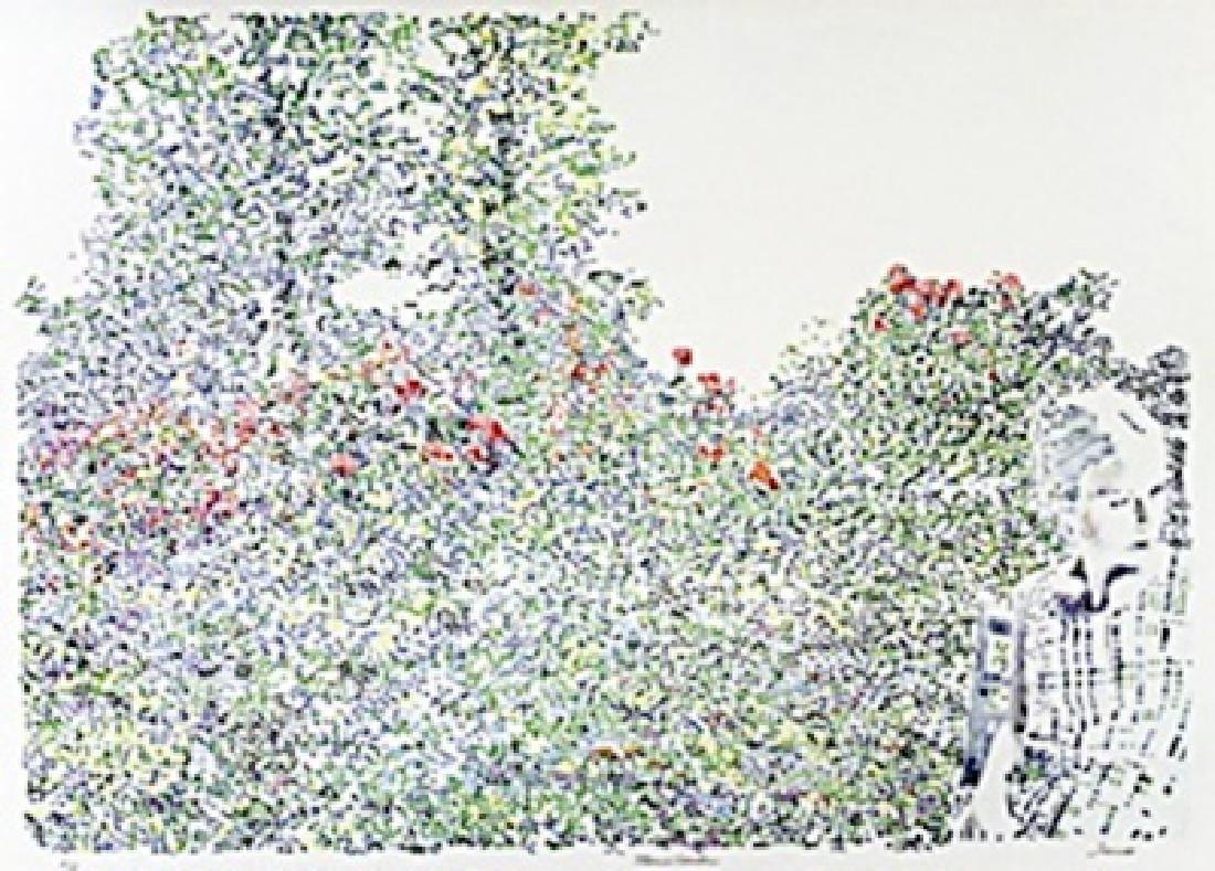 "Lithograph, Entitled: ""Maries Garden"""