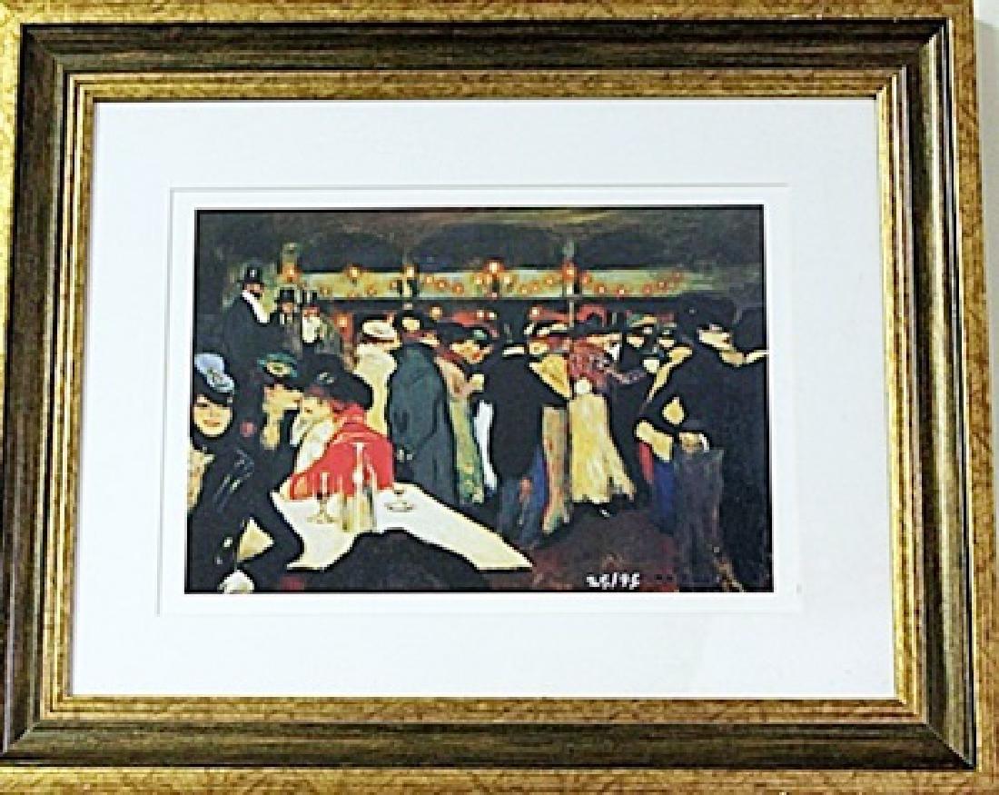 Framed Pablo Picasso-Moulin de la Galette LE Lithograph