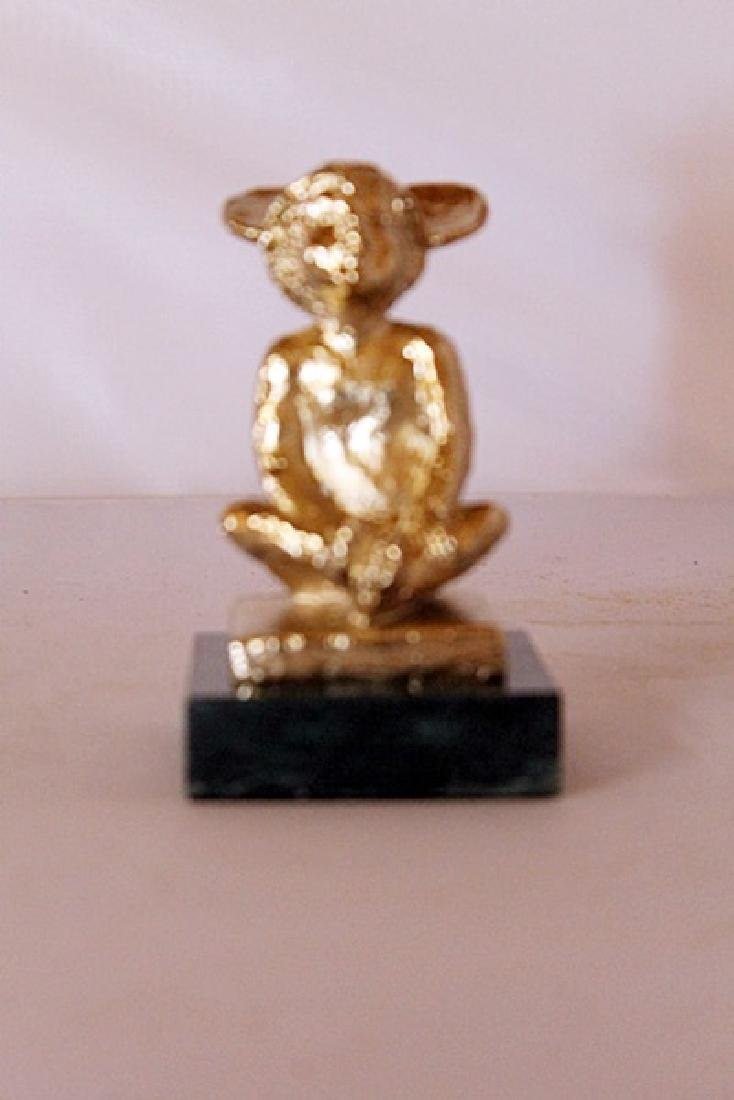 Mickey's Ears - Gold over Bronze Sculpture - after