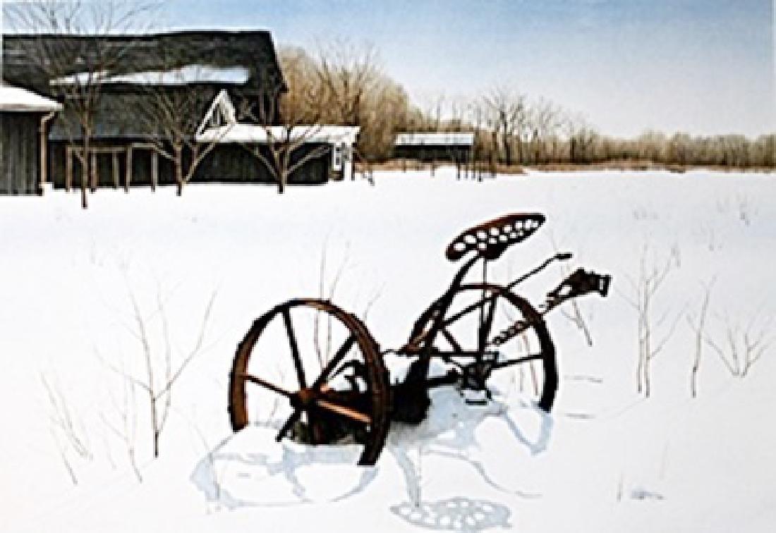 "Lithograph ""Snow Shadows""  Helen Rundell"