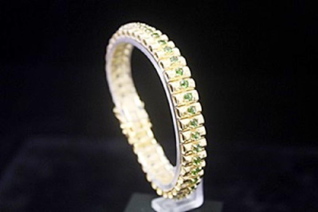 Gorgeous 14kt Gold over Silver Russian Chrome Diopside