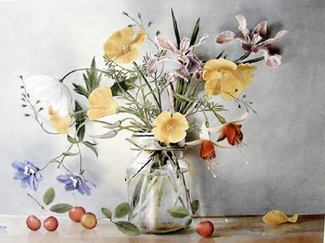 Mixed Bouquet II - Sally Wetherby - Lithograph