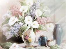 Summer Vase - Lithograph