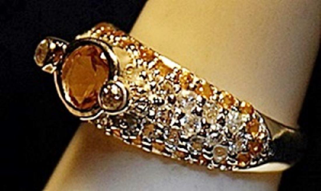 Gorgeous Sapphires Sterling Silver Ring. (159L) - 2