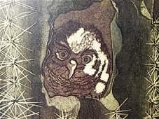 Owl - A. Maria - Lithograph