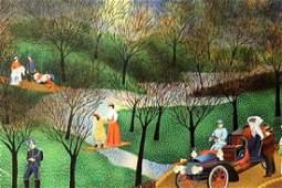 Park Scene - Vincent - Lithograph