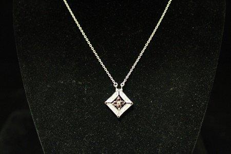 Gorgeous Amethyst Silver Necklace (5D)