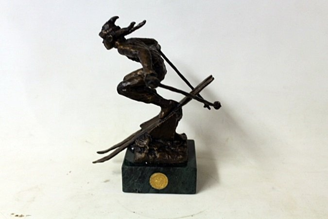 """Bronze Sculpture """" She Comes Into View"""" By Dennis"""