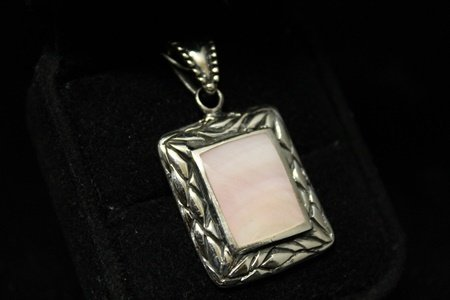 Stunning Agate Silver Pendant (6D)