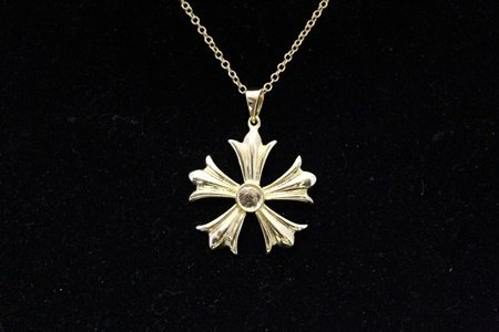 Gorgeous 14kt Gold over Silver Styling Necklace (487N)
