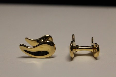 Beautiful 14kt Gold over Silver T & Co. Cufflinks (13C)