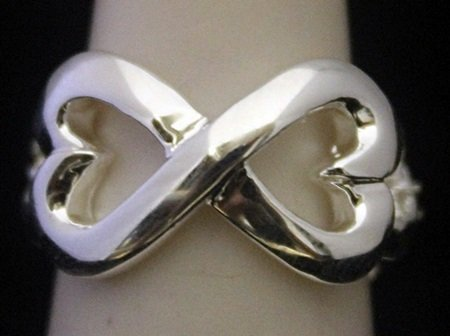 Fancy Silver Hearts Ring (228I)