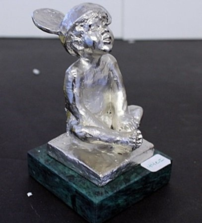 """Silver Over Bronze Sculpture """" Mickey's Ears """" By"""