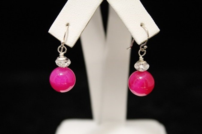 Gorgeous Pink Ruby Earrings (1M)