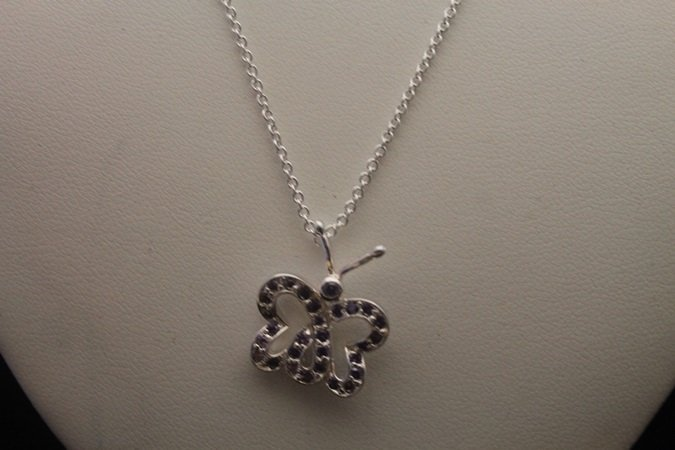 Beautiful Butterfly Tanzanite Silver Necklace (2N)