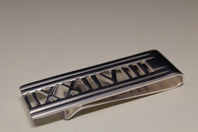 Lavish T & Co. Roman Numeral Money Silver Clip (6C)