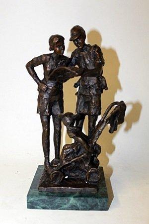 """Bronze Sculpture """" Lost In Fantasy Land """" By Dennis"""