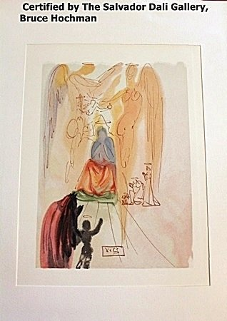 Plate Signed Wood Block By Dali- Paradise 23
