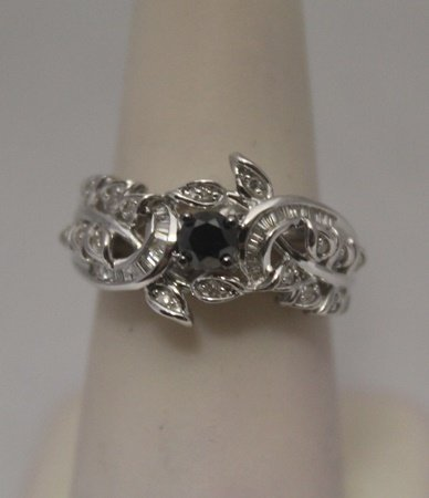 Very Fancy Black & White Diamonds & Baguettes Silver