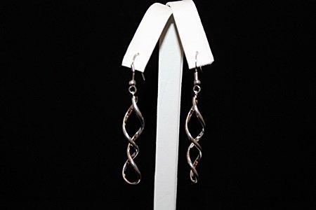 Beautiful Swirled Silver Earrings (63E)