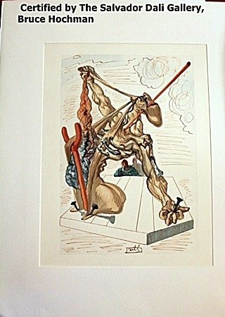 Plate Signed Wood Block By Dali- Inferno 29