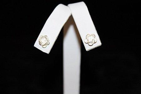 Stunning Rose Silver Earrings (10E)