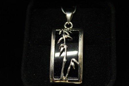 Gorgeous Onyx Silver Pendant (10M)