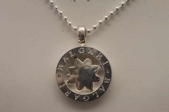 Gorgeous Signed BVLGARI Silver Necklace (10N)