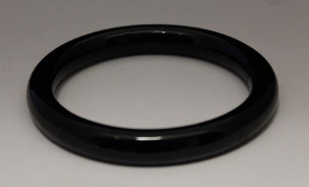 Stunning Hand Carved Black Jade Bangle (4B)