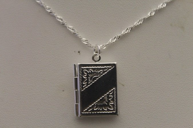 Fancy Book Locket Necklace (4N)