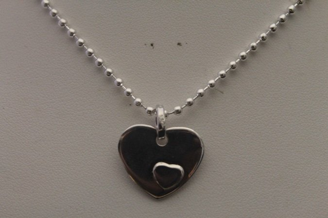 Beautiful Hearts Silver Necklace (5N)