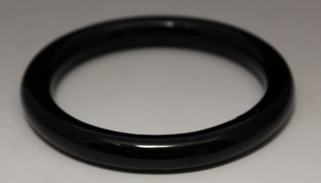 Beautiful Hand Carved Black Jade Bangle (8B)