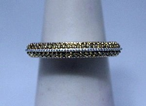Dazzling Champagne Diamonds Silver Ring