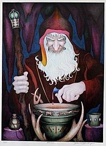 """Lithograph """"Merlin"""" after John Longendorfer"""
