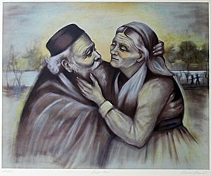 """Lithograph """"First Love"""" after Rhoda S."""