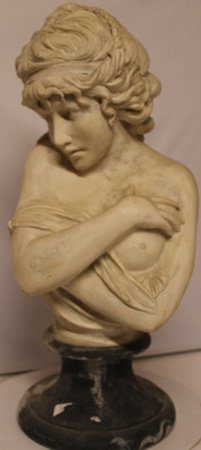 Large Women Bust - Shy Girl - Old World Antique Bisque