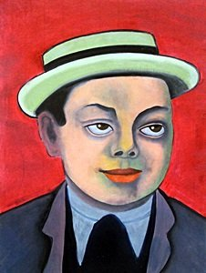 Self Portrait - Oil Painting - Diego Rivera