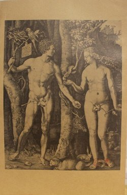 """Museum Lithograph """"adam And Eve (the Fall Of Man)"""""""