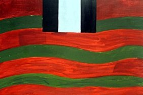 Red Lines - Oil On Paper - Sean Scully