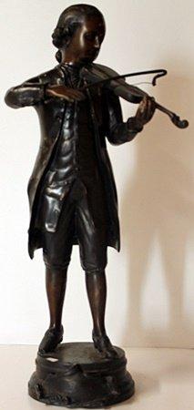 Mozart - Bronze Sculpture After Moreau