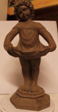 Curtsey - Old World Antique Bisque Sculpture