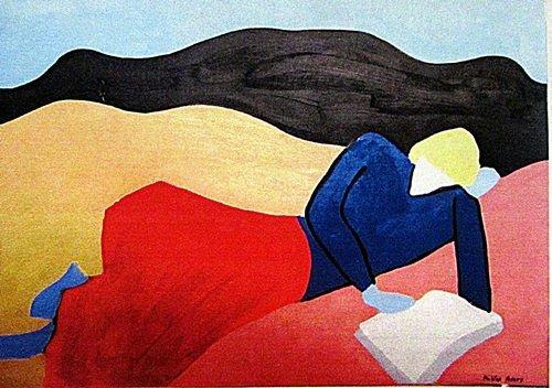 Milton Avery - The Blue Girl 1960 Oil