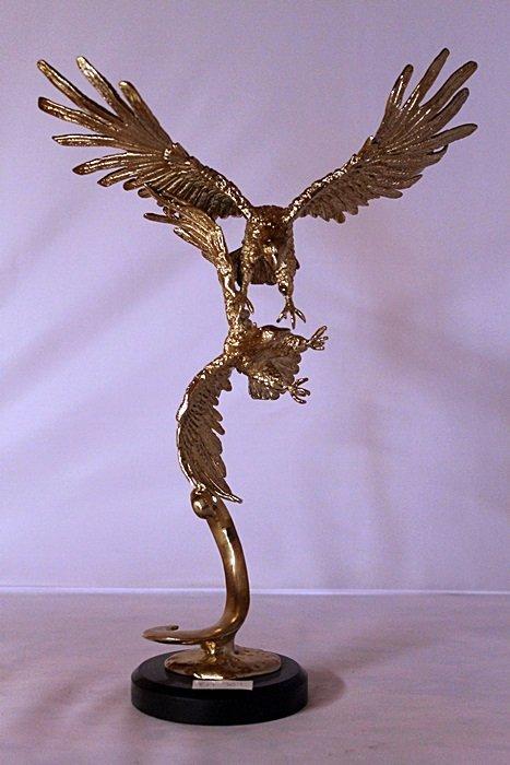Eagles - Gold over Bronze Sculpture - after SPI