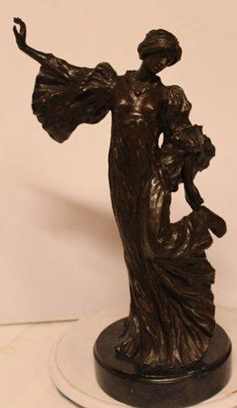 Bronze Sculpture on a Marble Base - A. Leonard